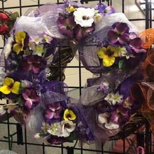 Other - Purple wreath with yellow flowers
